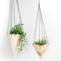 Geometric Hanging Planter - Maple