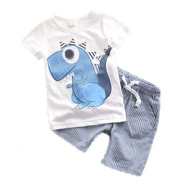 0-6years Toddler Boys Clothing Summer 2017 New Children Baby Boys Clothes Cartoon Kids Boy Clothing Sets Tshirt+Shorts T501