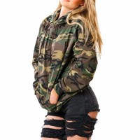Fashion Camouflage Hoodies Women Long Sleeve Hooded Sweatshirt Camo Army Hip Hop Streetwear Hoodies Pullover Female Sweatshirts
