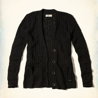 Girls Textured Boyfriend Cardigan | Girls Tops | HollisterCo.com