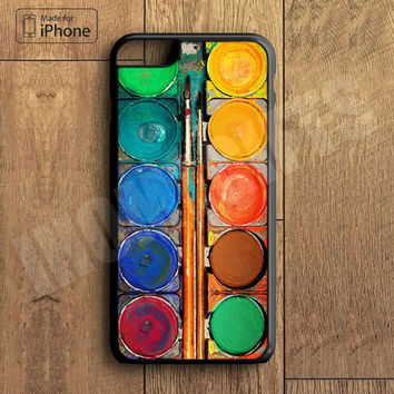 Water Painting  Color Box Plastic Case iPhone 6S 6 Plus 5 5S SE 5C 4 4S Case Ipod Touch 6 5 4 Case