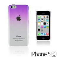 OBiDi - Transparent Gradient Water Drop Design Hard Back Case for Apple iPhone 5C - Purple