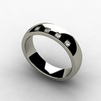Titanium ring,  Diamond ring, Wedding band, Men wedding, Men, Diamond, Band, Titanium, Mens ring, Commitment, promise, modern