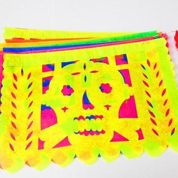 Day of the dead Decor, day of the dead sugar skull banners, Dia de los Muertos wedding 5 Pack