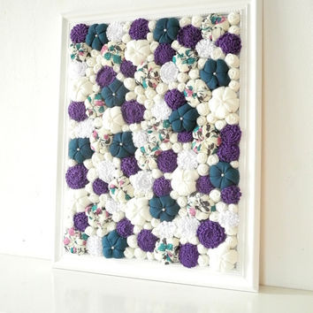 Baroque framed art Fabric flower wall from mapano on Etsy