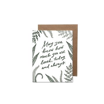 HEARTSWELL HOW MUCH YOU ARE LOVED CARD