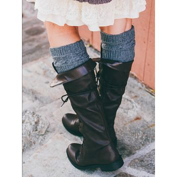 Sweater Cable Boot Cuffs