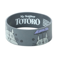 My Neighbor Totoro Purple Umbrella Rubber Bracelet