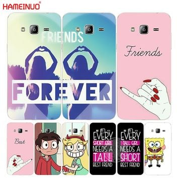 HAMEINUO best friend forever lovers couple cover phone case for Samsung Galaxy J1 J2 J3 J5 J7 MINI ACE 2016 2015 prime