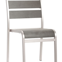 Township Dining Armless Chair Brushed Aluminum