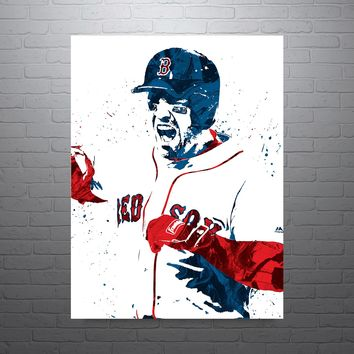Steve Pearce Boston Red Sox Poster