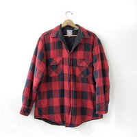 20% OFF SALE / Vintage Plaid Flannel Jacket / Grunge Shirt / Button up shirt