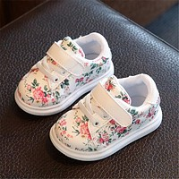 EU 21-30  New Children Shoes Girls Fashion Casual Shoes Irregular Floral Print Cute Kids Sneakers Breathable Baby Girls Shoes