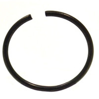 Annealed(Bendable) Basic Black PVD/Stainless Steel Nose Ring Hoop - 20G 3/8""