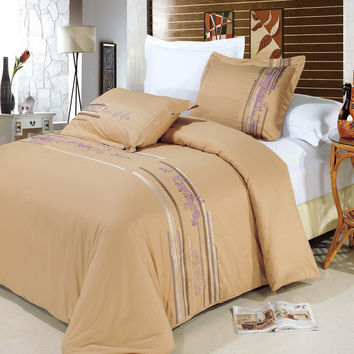 Cecilia Egyptian cotton Embroidered Duvet Cover Set