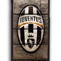 Wood With Juventus Fc Logo for Iphone 6 Hard Cover Plastic