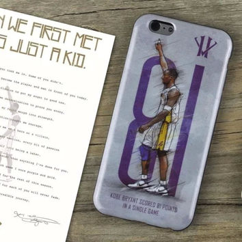 For iPhone 6 and 6 plus case of Kobe Bryant by soft material case for iPhone 6 6s 6plus back cover