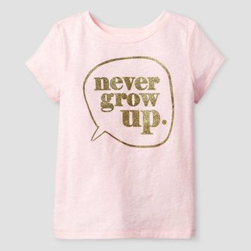 Baby Girls' Never Grow Up Short Sleeve Graphic T-Shirt Pink - Cat and Jack™