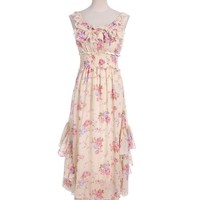 Gypsy Style Floral Patterned Dress