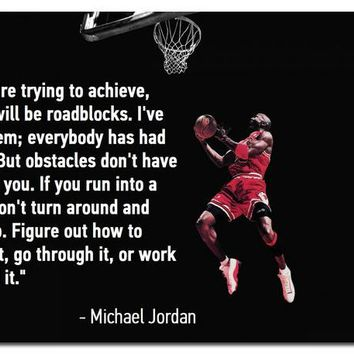 Michael Jordan Basketball Poster Motivational Poster