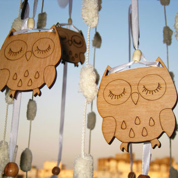 Owl Mobile Dreamcatcher woodland Baby Mobile Dream Catcher Nursery decor Mobile owl Boho Dreamcatcher Boho Mobile Crib Mobile Baby Girl Boy