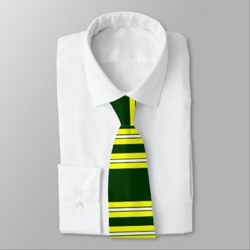 Green & Yellow Football Team Tie
