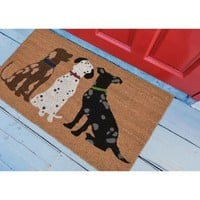 Three Dogs Natural Doormat