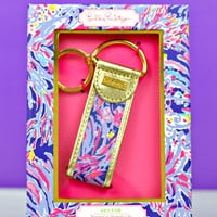 LILLY PULITZER: Key Fob - Shrimply Chic