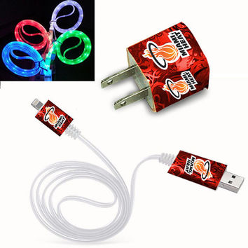Miami Heat  Iphone 5 light up Charger and Cube