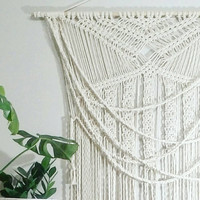 Large Macrame Curtain- Macrame Wall Hanging~ Bohemian Furniture~ Boho Wall Decor~ Wedding Decor~ White Wall Accent- Bohemian Bedroom Decor