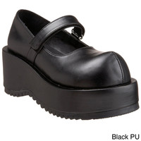 Demonia Women's 'Dolly-01' Black Tall Platform Wedge Shoes | Overstock.com Shopping - The Best Deals on Wedges