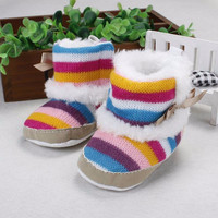 Baby Shoes Prewalker Baby Girl Winter Boots First Walkers Infant Prewalker