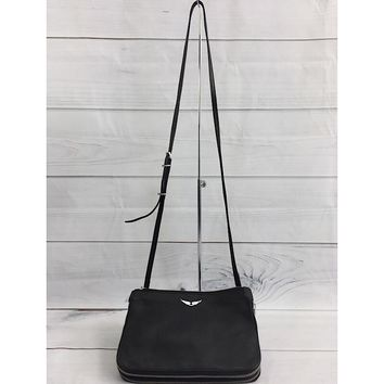 Zadig & Voltaire Women's Black Clyde Savage Leather Crossbody Bag (NWD)