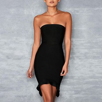 Strapless Mini Bandage Dress