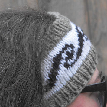 Cowichan Inspired headband, Ear warmer, Headband, Headwrap warmer, wrap, Native American, machine washable by The Spirit of the West Designs