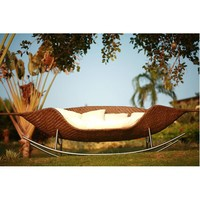 Neoteric Foglia Wicker Rocking Outdoor Sofa at HomeInfatuation.com.