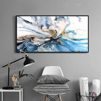 QKART Wall Art Pictures For Living Room Home Decor Abstract Unreal Clouds Canvas Oil Painting Printed No Frame Poster and prints