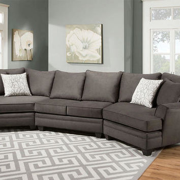 Casa Gray 3 Pc. Cuddler Sectional - Sectionals - Living Room - mobile