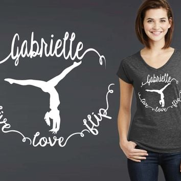 Gymnastics Personalized T-shirt