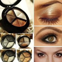 iOffer: Eyeshadow makeup palette smoky eyes 3 color palette for sale