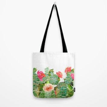 scratched cactus Tote Bag by clemm