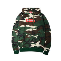 Unisex Supreme Camouflage Embroidery Hoodies