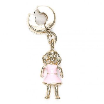 Gold Layered 5.161.023 Love Link Pendant, Little Girl Design, Enamel Finish, Golden Tone