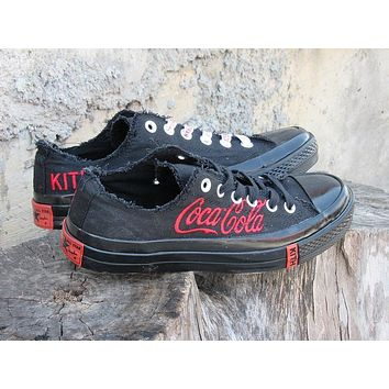 Best Deal Online KITH x Coca-Cola x Converse Black 171812C Women Sneaker Flats Shoes