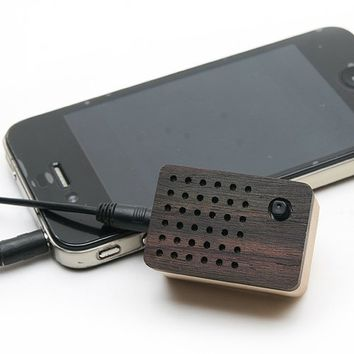 Motz Wood Portable Speaker, FM Radio and MP3 Player (Micro SD Card) for iPhone, iPod, MP3 and more