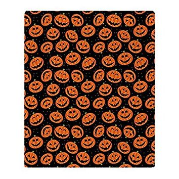 "CafePress - Halloween Pumpkin Flip Flops - Soft Fleece Throw Blanket, 50""x60"" Stadium Blanket"