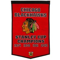 Chicago Blackhawks One-Sided Dynasty Banner - Red