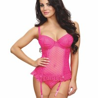 Stretch Mesh bustier with underwire push-Up Bras