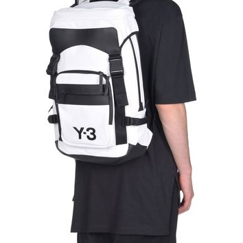 "White and Black ""Ultratech"" Backpack by Y-3"