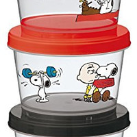 Skater Peanuts Snoopy Snack Containers, Set of 3